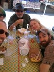 Farmers Market Brunch Bunch- (clockwise from left) Michael Rose, Me!, John Skipp, Laura Lee Bahr and Ezra Werb