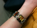 Melissa Harris lent me this bracelet for luck. It was custom made for her in Louisiana and each charm is a pulp fiction title. Perfect for the occasion.